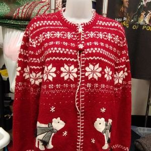 Polar Bear and snowflakes Christmas Cardigan